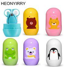 4 шт. Детские комплекты для здравоохранения детский набор для ухода за ногтями Детские пальчиковые ножницы кусачки для ногтей мультяшная коробка для хранения животных для путешествий