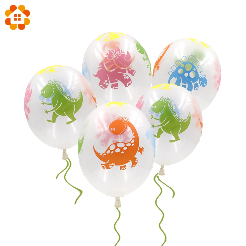 20PCS 12inch Cute Dinosaur Balloons Latex Balloons Party Favors Kid Toys Baby Shower Decorations Birthday Party Supplies Gifts