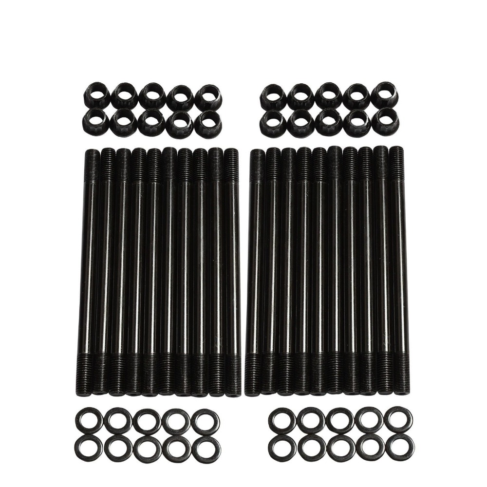 High Strength Cylinder Head Stud Kit for 2003-2007 Ford F250 F350 6.0L Diesel Powerstroke 250-4202 Engine Type V8 5c3z9d930a for ford diesel powerstroke excursion f250 f350 f450 f550 250 350 450 550 f v8 6 0l fuel injector ficm wiring harness