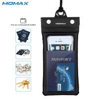 Momax Wodoodporny Pokrowiec Uniwersalny Telefon Komórkowy Pod 5.9 Cal Torba dla Samsung S8 Plaża Podwodne Pralnia Etui do iPhone 6 6 S 7 Plus