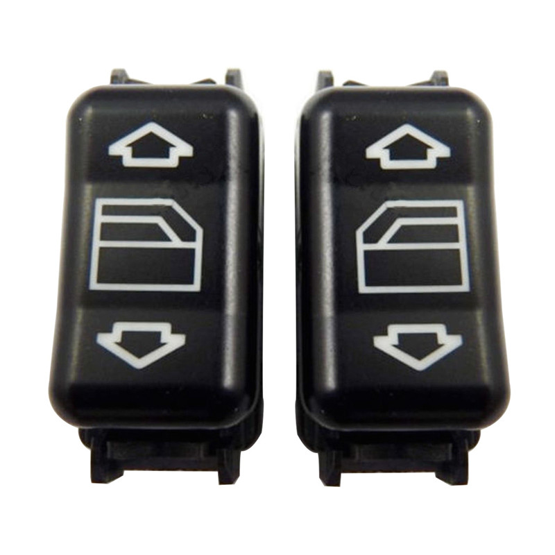 1248204510 Black Left & Right Electric Master Control Power Window Switch For Mercedes-Benz E W124 W126 W201 W463 1248204610
