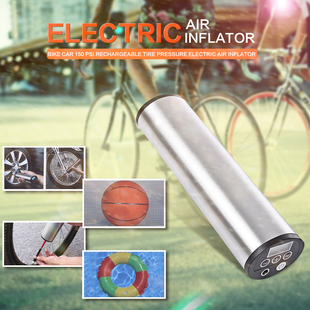 150PSI Rechargeable Portable Car Bicycle Wheel Tire Pump LCD Digital Display/ LED...