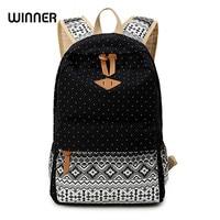 Korean Style Women Bookbags Canvas Printing Backpack Cute School Bags Backpacks For Teenage Girls
