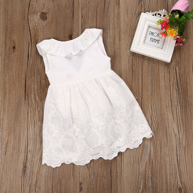 Toddler Kids Baby Girl Clothes Princess Party Formal Prom Bowknot Summer Dress White Casual Children Dresses girls dress 2017 new summer flower kids party dresses for wedding children s princess girl evening prom toddler beading clothes