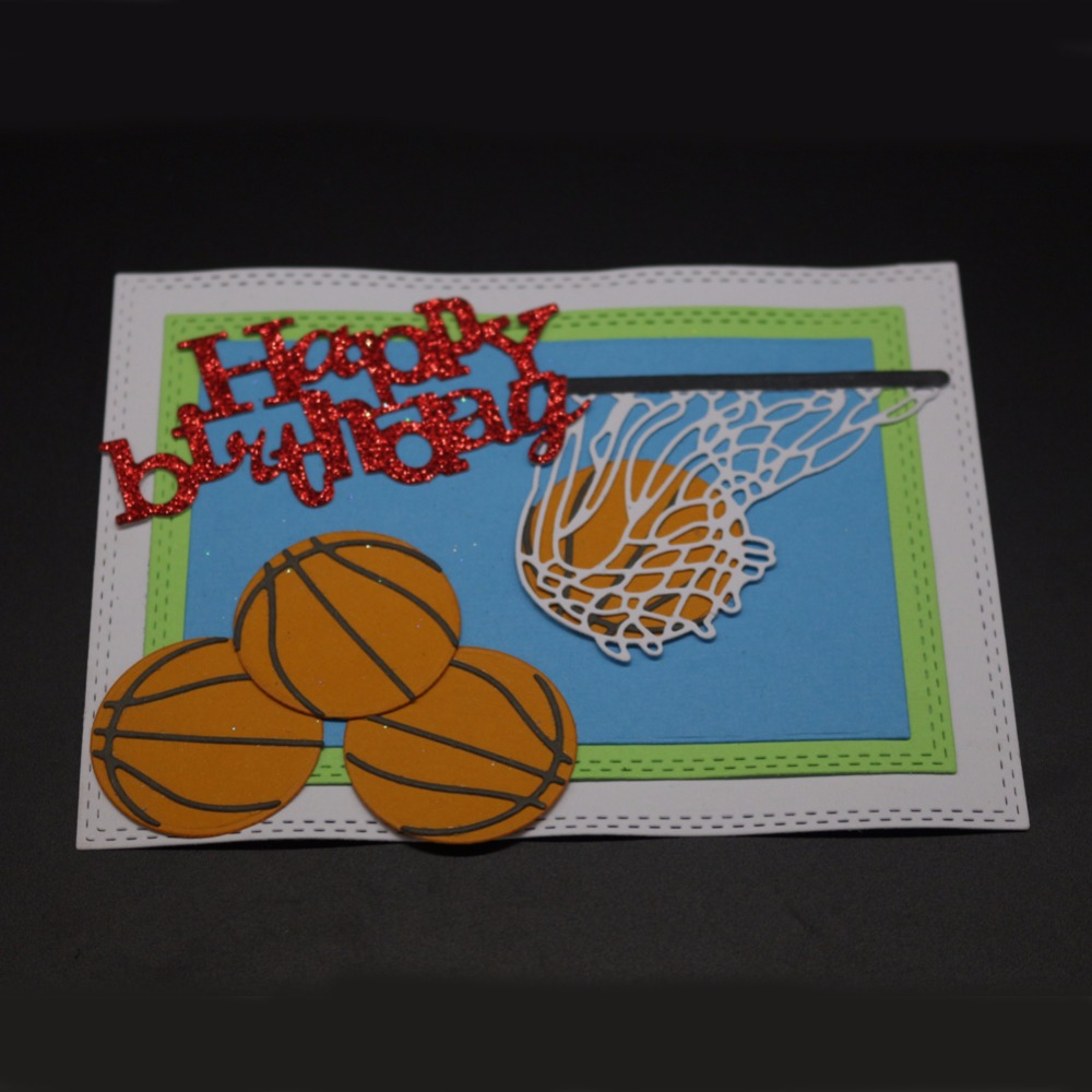 Adv-one Metal Dies Cutting Basketball and Hoop Backdrops Dies Embossing Scrapbooking Craft Dies Cuts Stamp Paper Card Stencil