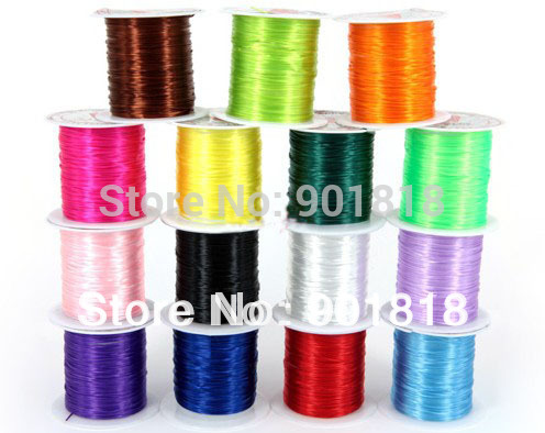 XINYAO 1 Rolls/lot Multi-colors Elastic Stretch Beading Wire/Cord/String/Thread for DIY Bracelets Jewelry Making Materials F392