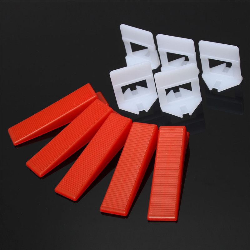200pcs/set Tile Leveling System Wedges and Clips Spacer Plastic Tiling Tools Prevent movement during installation of tiles Best k