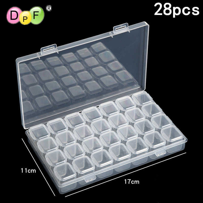 DPF 28 grid Dismountable diamond painting Accessories Diamond Embroidery Cases PP plastics Box Organizer Home Storage boxes 2019