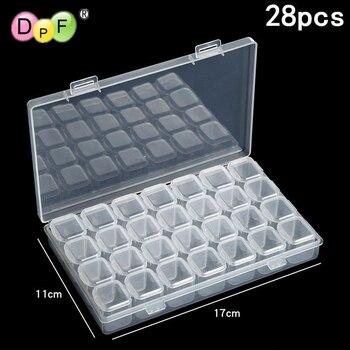 DPF 28 grid Dismountable diamond painting Accessories Diamond Embroidery Cases PP plastics Box Organizer Home Storage boxes 2019
