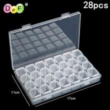 DPF 28 grid Dismountable diamond painting Accessories Diamond Embroidery font b Cases b font PP plastics