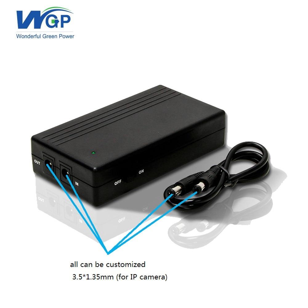 DC input DC output portable ups power supply 12 volt ups battery backup 12V 2A for cctv DVR NVR camera
