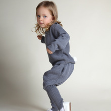 1 5 years old children rabbit sweater suit coat pants 2016 autumn and winter baby pants