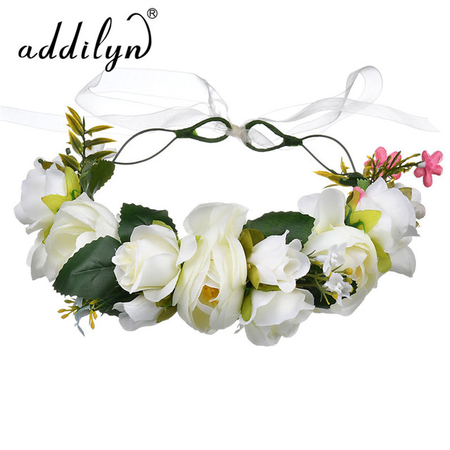 Addilyn Girl Rose Fabric Flower Hair Accessory Decorative Easter Flower  Headband Hair Clip Kids Head Wreath for sale ed36d488a53