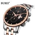 Мужские наручные часы с хронографом BUREI  армейские Кварцевые водонепроницаемые часы с сапфировым кристаллом  наручные часы в стиле милитар...