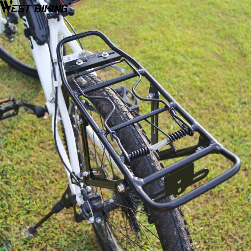 WEST RADFAHREN 25 KG Kapazität Fahrrad Gepäckträger Lastenfahrrad Rack Soporte Bicicleta Mountain Road Fahrrad Gepäckträger Installieren Komponente