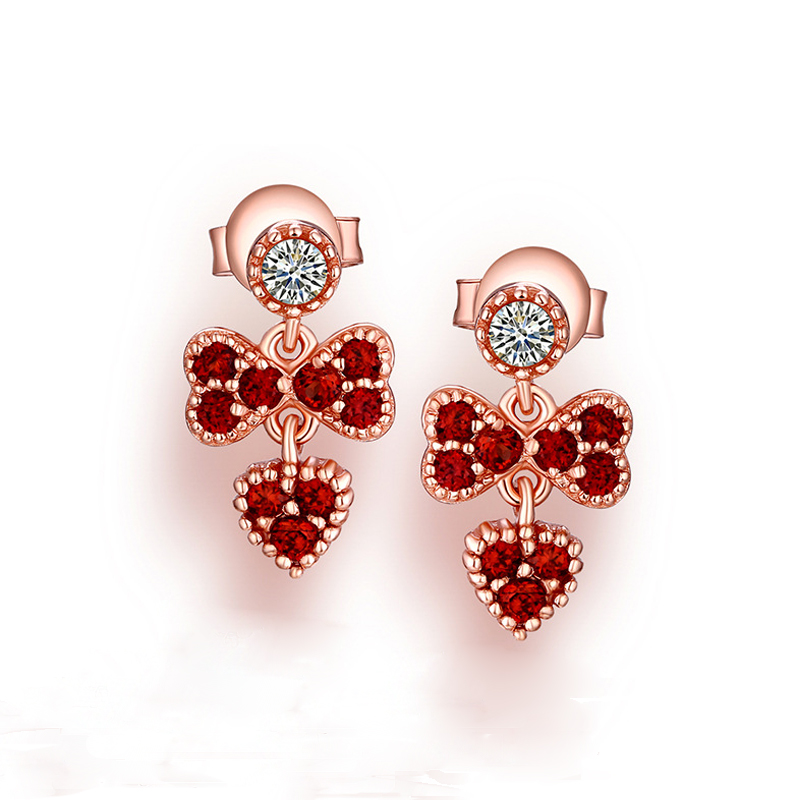 ANI 925 Sterling Silver Women Drop Earrings Natural Garnet Color Gemstone Fine Jewelry Engagement Dangle Earrings for Women pair of sweet candy color gemstone embellished earrings for women