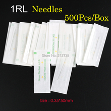 Permanent Makeup Needles 1RL Sterilized Eyebrow-Tattoo-Needles Stainless-Steel 500pcs