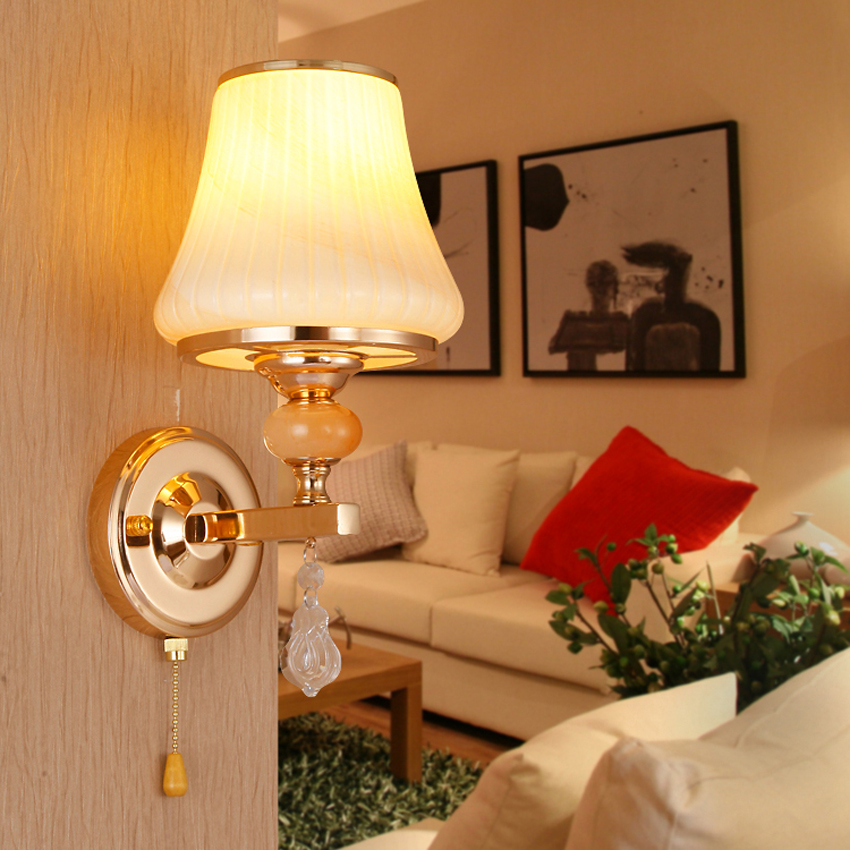 American style modern wall lamp,wrought iron glass lampshade led industrial wall sconces lighting for restaurant hotel bedroom 110v 220v modern led stainless steel hose wall lamp lights fabric lampshade shade home hotel industrial gooseneck wall sconces