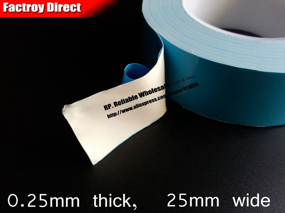 (0.25mm thick) 25mm*25M Double Adhesive Hot Trasfer Tape for Aluminium Radiation Pads with Heat Sink, LED Lighting Tube car tpms tire pressure wireless monitoring temperature system psi bar usb alarm 4 external sensors auto tire pressure alarm lcd