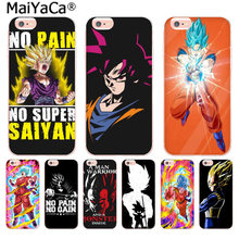 Maiyaca Hot Sale Dragon Ball Z Goku Pola Mewah Ponsel Shell Asli Case untuk iPhone 11 Pro8766S Plus X 55S se XR XS X Max(China)