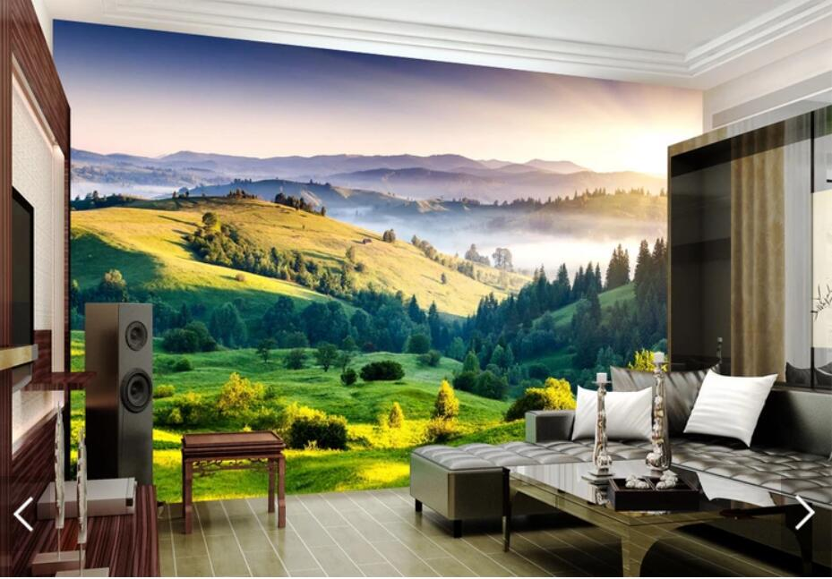 Mountain View Wallpapers Mural Photo Wall Paper For Living Room Bedroom Wall Paper Contact Paper 3d Wall Murals Customize