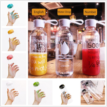 1000ml 600ml  My Lemon Water Bottle Plastic Bottles Drink Bottle Transparent Bottle Portable Botella De Agua Bidon Garrafa