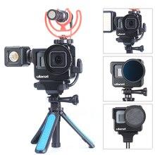 ULANZI V3 מתכת Vlog כלוב לgopro 7 6 5 עם אוניברסלי 52MM מסנן וידאו Vlog כלוב עבור מיקרופון /LED וידאו אור