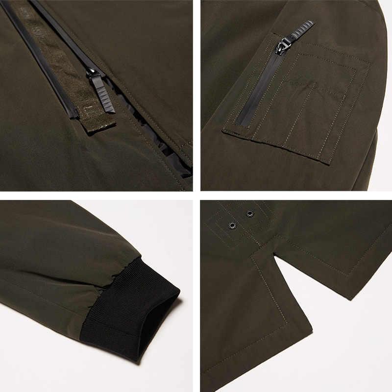 ICebear 2019 neue herbst mantel der männer kleidung mode mann jacke diagonal knopfleiste mit kapuze design hohe qualität kleidung MWC18031D