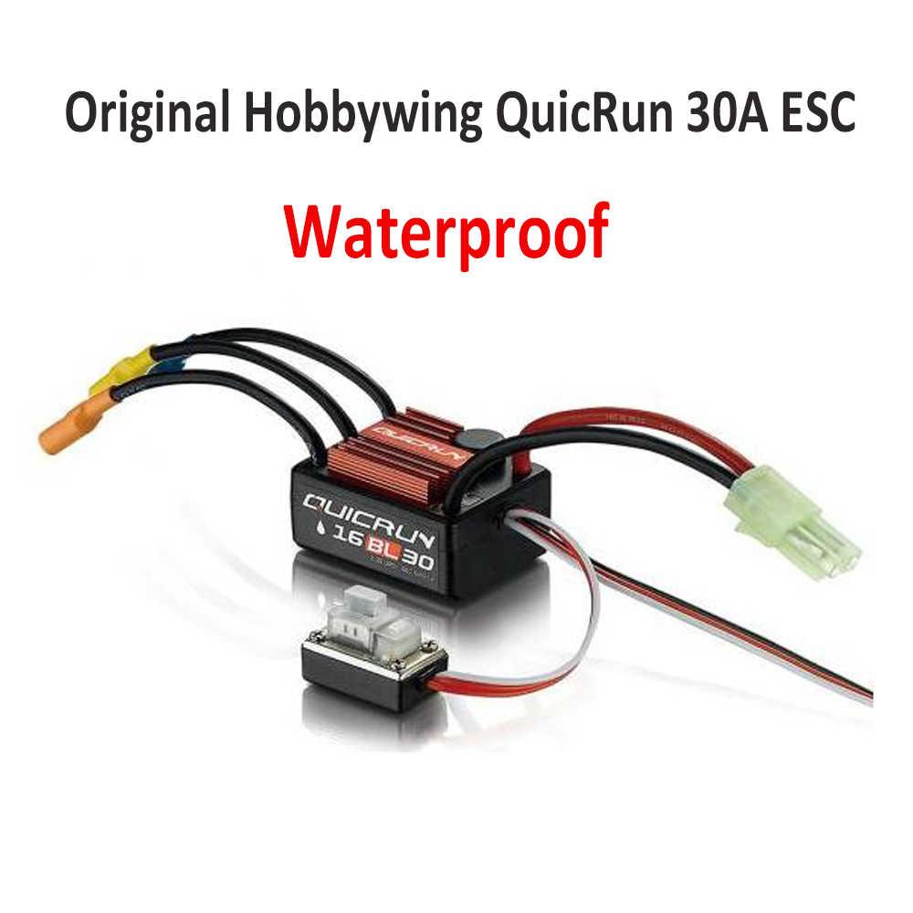 Original Hobbywing QuicRun 16BL30 30A sin escobillas ESC impermeable para 1/16 en carretera/fuera de carretera/Buggy/ monstruo RC Coche