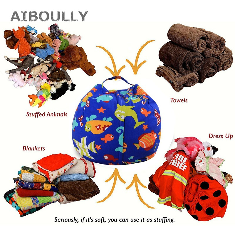 16 дюймов современные хранения чучело хранения погремушка стул Портативный детская одежда игрушка Сумки для хранения для Ванная комната Го... ...