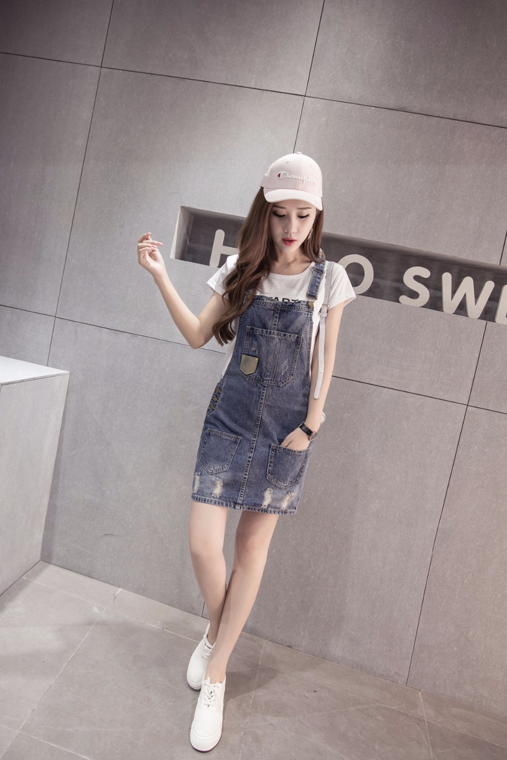 f13a3e64d94b Fabric Type Denim Style Casual Style1 Fashion Ripped Jumpsuit Style2 Summer  Rompers Female Style3 Denim Overalls Girls. hot selling. siz-aar. 1-5 1-7  ...