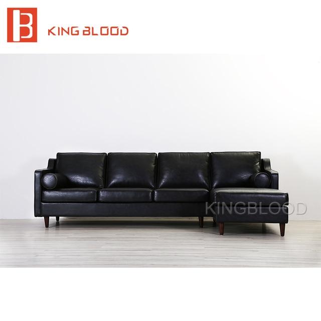 American vintage pu cuadro de muebles salón conjunto de sofás de ...