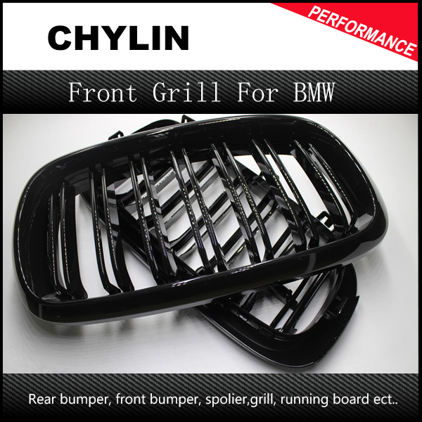 1 Pair New 2014 + X5 X6 F15 F16 M Sport design abs material kidney car front grill for BMW xdrive vehicle front bumper grille цена 2017