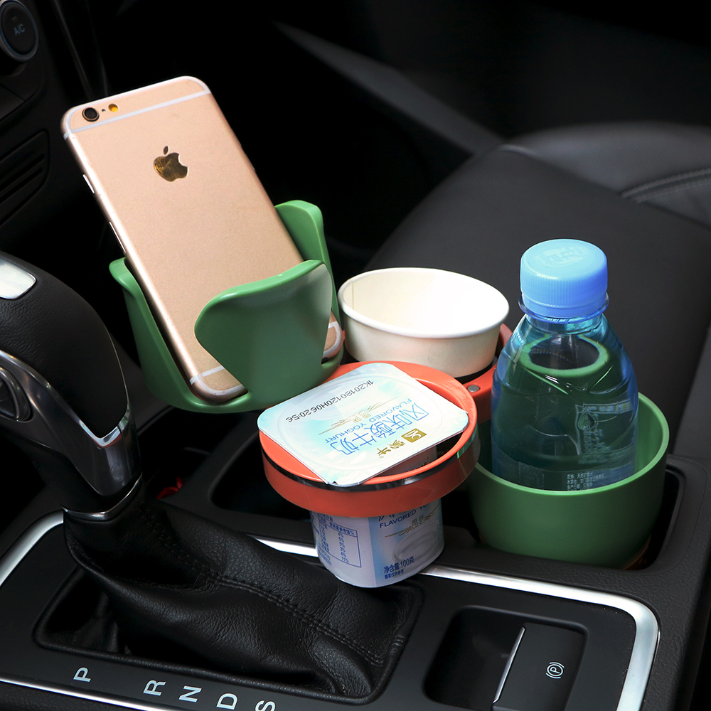 HTB1Jqx4cuuSBuNjy1Xcq6AYjFXau - Car-styling Car Organizer Auto Sunglasses Drink Cup Holder Car Phone Holder for Coins Keys Phone Stand Interior Accessories