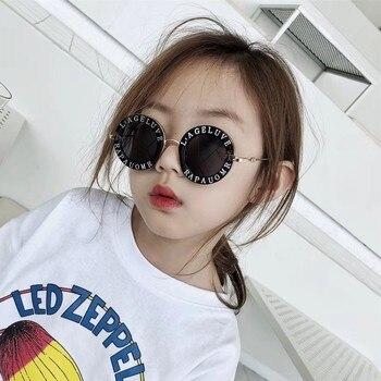 Child 2018 NEW designer Kids Round Frame Sunglasses Children Glasses UV400 Baby Summer Eyeglasses Vintage Cute Girl Eyewear