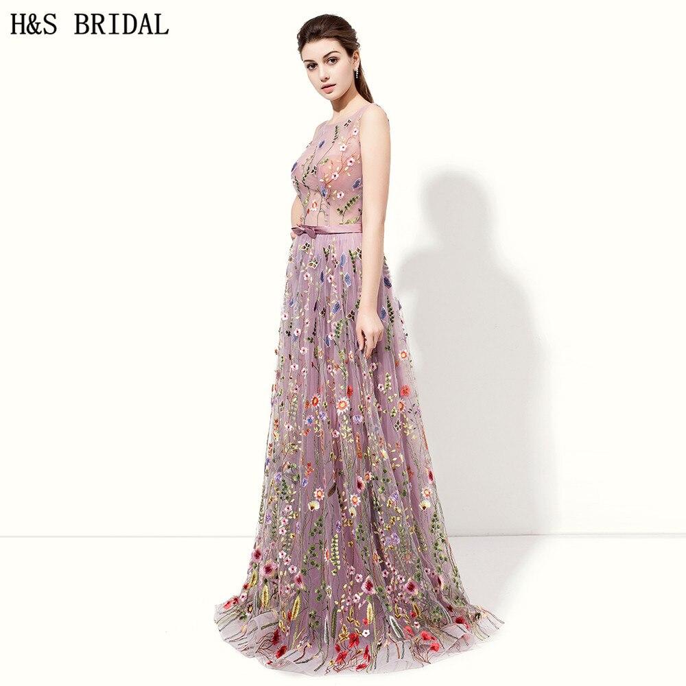 H & S mariée violet clair robes de soirée pure avant robe de soirée ...