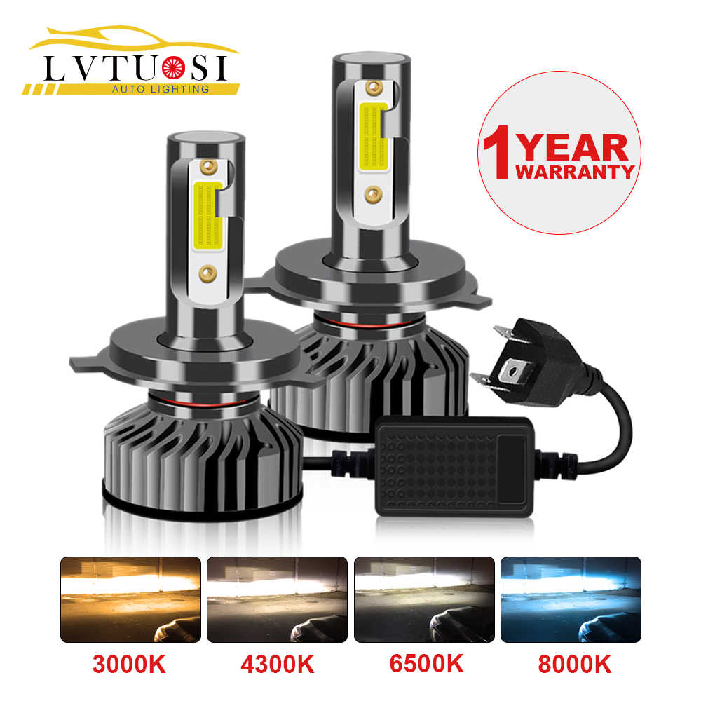 LVTUSI CANBUS H7 LED H4 Car Headlight H1 H3 H11 H4 9003 H8 H9 9005 9003  Auto Lamp AC