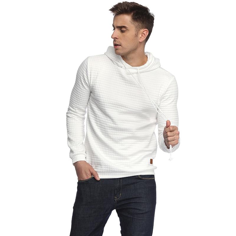 Hoodies Men 2018 Brand Male Long Sleeve Solid Color Hooded Sweatshirt Mens Hoodie Tracksuit Sweat Coat Casual Sportswear M-2XL