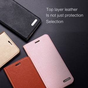 Image 5 - wangcangli leather calfskin litchi texture For MOTO XT1662 flip phone case all handmade custom