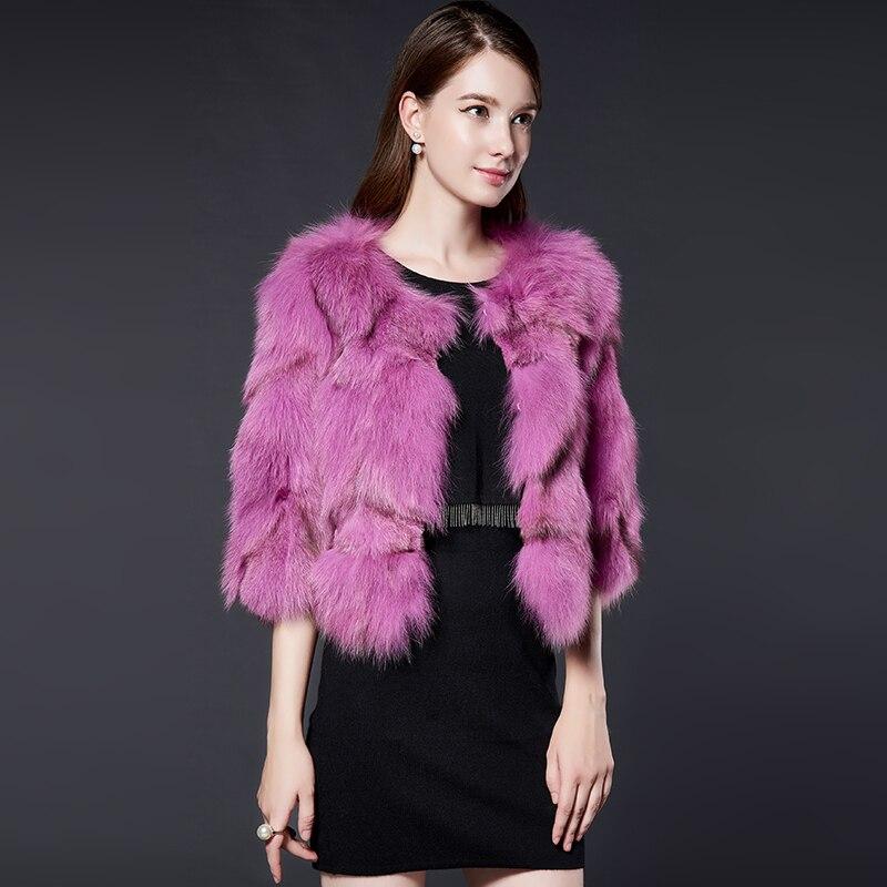 Vêtements Vintage Renard Manteau Femmes pink gray Veste Vestes De D'hiver dou Mujer Coréennes Manteaux 2018 My1027 Automne Réel Chaqueta Luxe Fourrure Sha Beige dnvXrvYq
