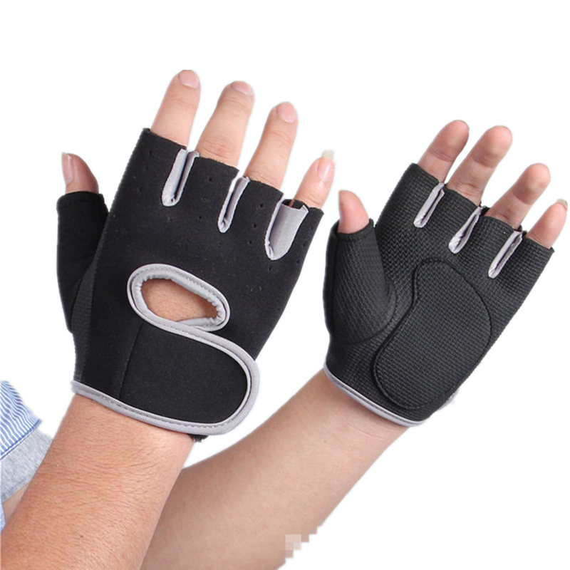 Pure Color Gym Fitness Gloves For Women Men Mittens 2020 Bodybuilding Glove Weightlifting Male Female Gym Gloves Without Fingers