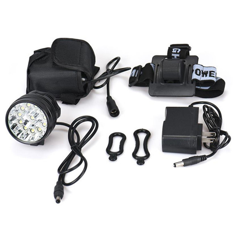 ISHOWTIENDA Rechargeable Bike Light Front Handlebar 30000LM 12 x CREE XM L T6 LED 6 x