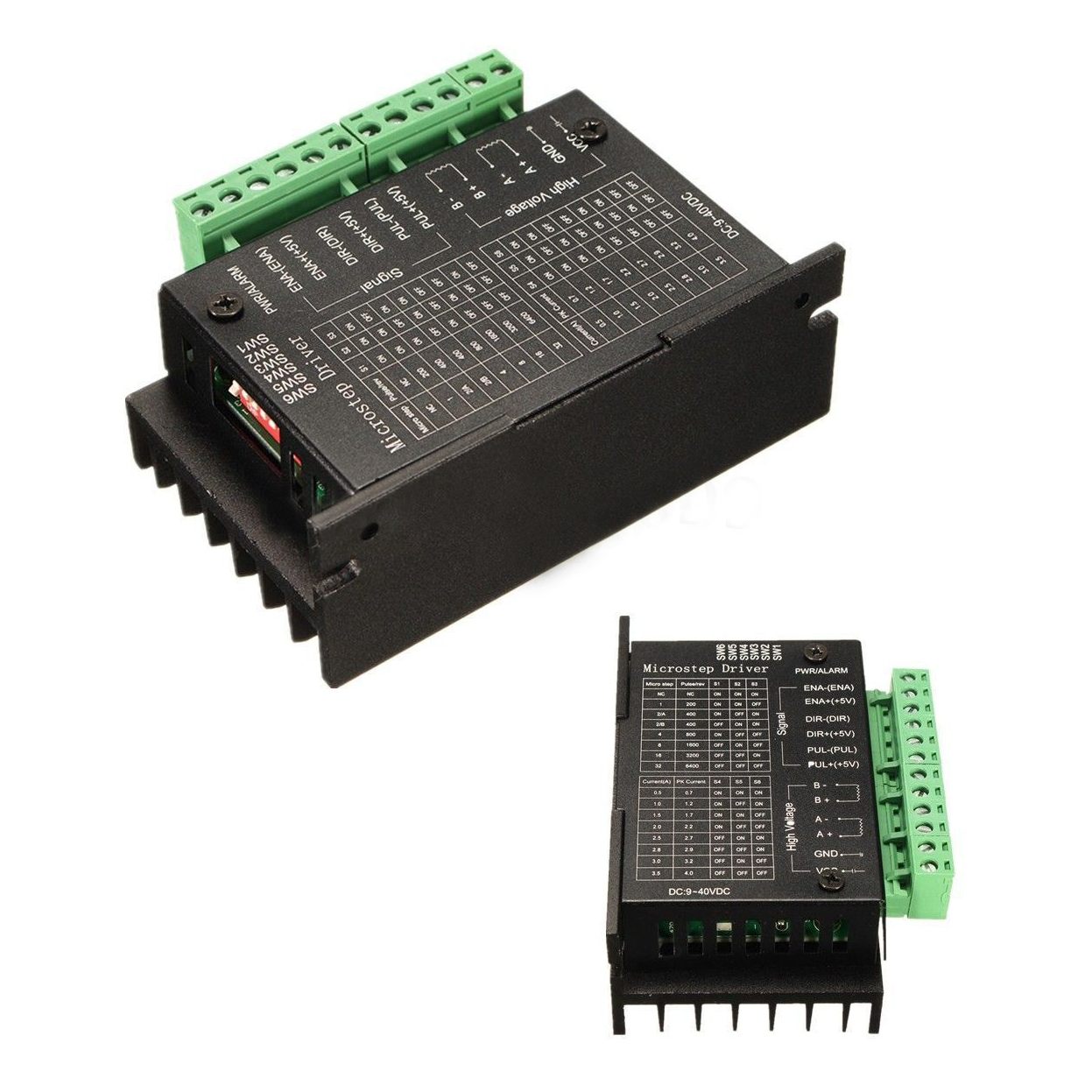 US $7 64 15% OFF|20KHZ CNC Single Axis TB6600 2/4 Phase Hybrid Stepper  Motor Driver Controller Black-in Stepper Motor from Home Improvement on