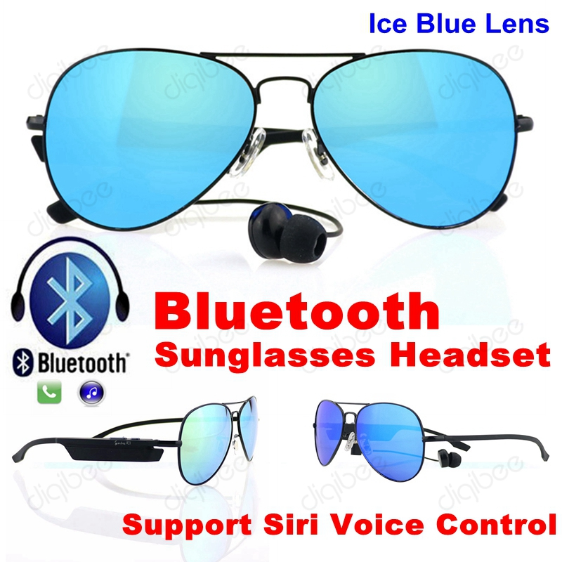 Smart Glasses Polarized Sunglasses with Bluetooth Headset Microphone Voice Prompt for Samsung iPhone HTC LG Xiaomi bluetooth wireless sunglasses w earphone polarized glasses for iphone samsung android ios smartphones black a pair of earphones