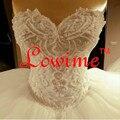 Vestido de casamento Apliques de costura À Mão Pérolas vestido de Baile Vestidos de Casamento Puffy Saia Robe De Mariage Casamento Luxry 2017