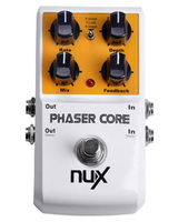NUX Phaser Core Guitar Effect Pedal True Bypass Tone Lock Function And One Preset Save Recall