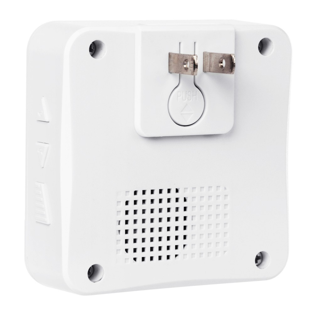 2pcs of Outdoor Solar Charging Transmitter plus 1pcs of Smart Home Wireless 433Mh Long Range Doorbell With 52 Chimes White Color