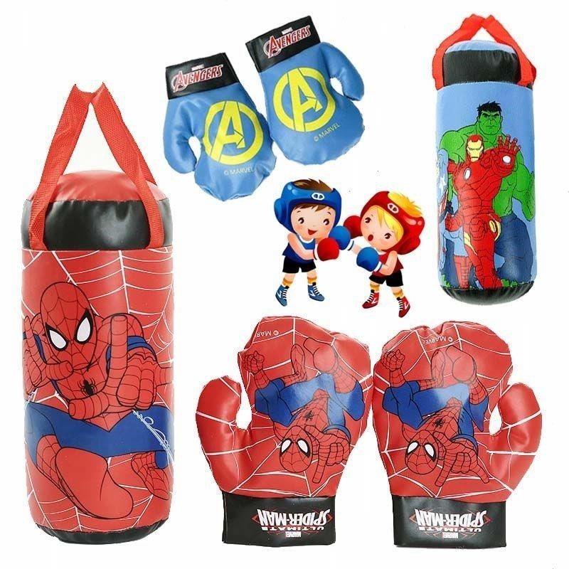 NEW Marvel Superhero Spiderman Hulk Children's Gloves Genuine Spider-Man Avengers Boxing Gloves Decompression Toys