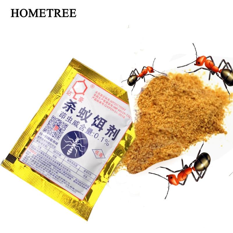 HOMETREE 5Pcs Killing Ants Drugs Environmentally Friendly Non-Toxic Bait Powder Yellow Black Ant Medicine To Kill Ant Bait H54