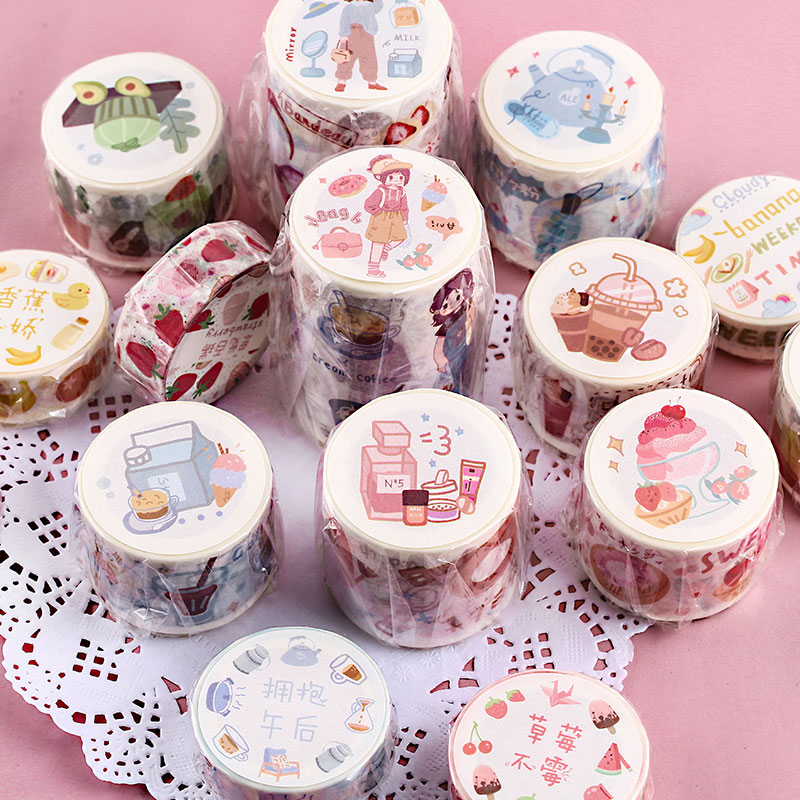 Chocolate Fruits Washi Tape Diy Decorative Scrapbooking Masking Tape Adhesive Label Sticker Tape Stationery